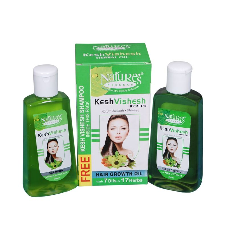 Nature's Essence Kesh Vishesh Herbal Oil + Kesh Vishesh Shampoo FREE