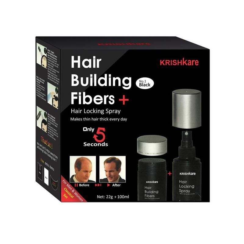 Krishkare Hair Building Fibers + Hair Locking Spray