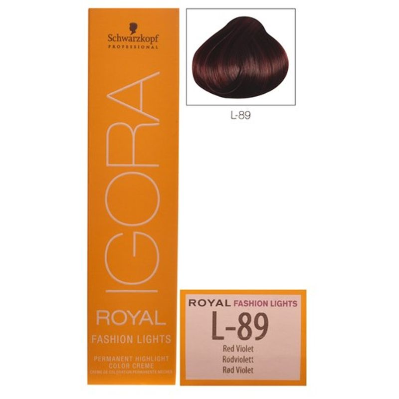 Schwarzkopf Igora Royal Fashion Lights L 89 Red Violet Hair Color At