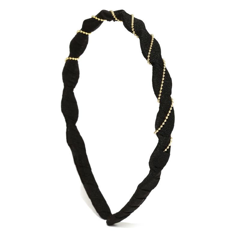 Toniq Black Knotted Hair Band