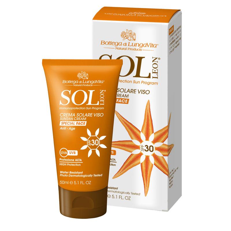 Bottega Di Lungavita Sol Leon Suntan Cream Face Spf 30
