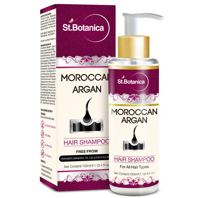 St.Botanica Moroccan Argan Hair Shampoo (SLS Paraben Free)