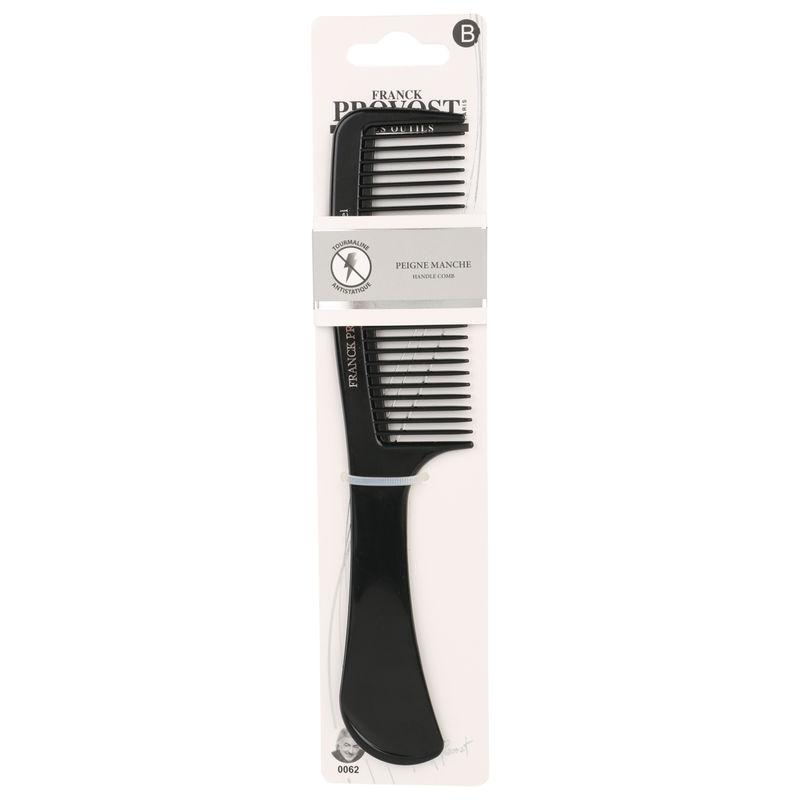 Franck Provost Detangling Hair Comb With Handle - Black