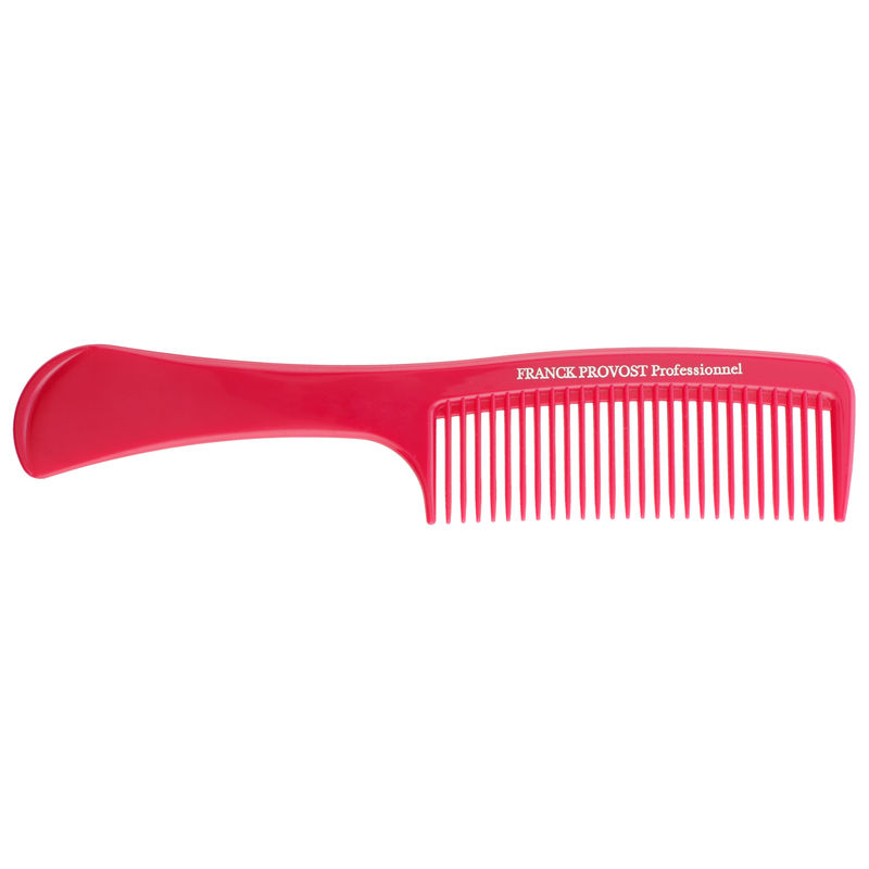 Franck Provost Detangling Hair Comb With Handle - Wine Red