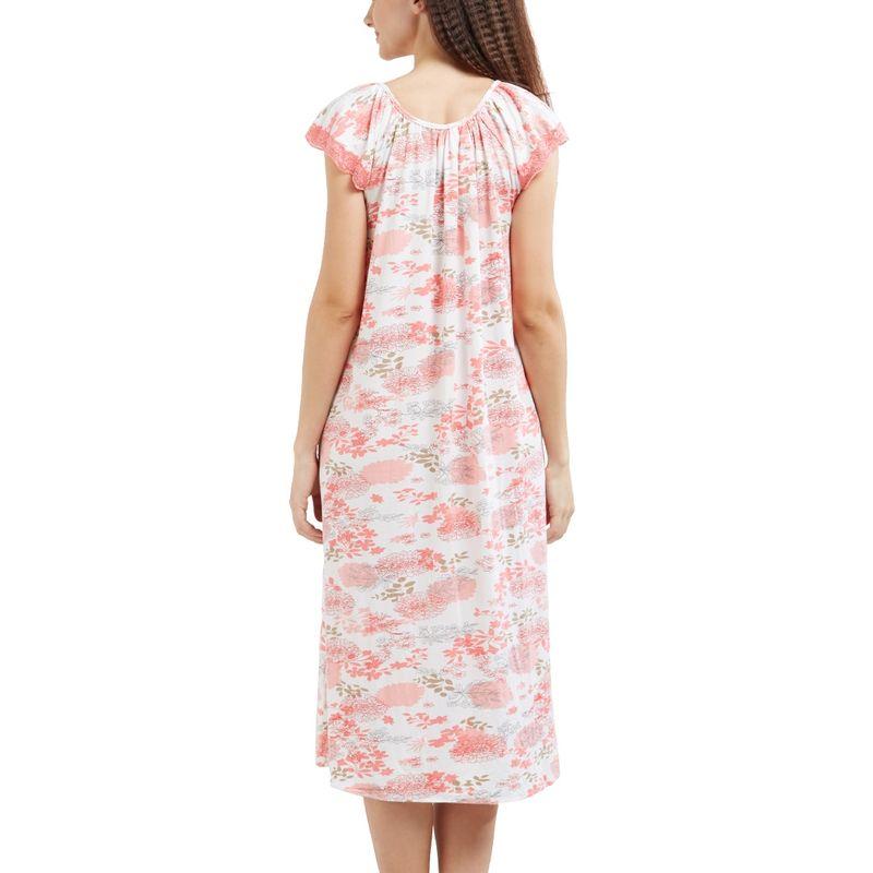1d5007425a Blush By Prettysecrets Lace Trim Long Night Dress - Multi-Color at nykaa.com