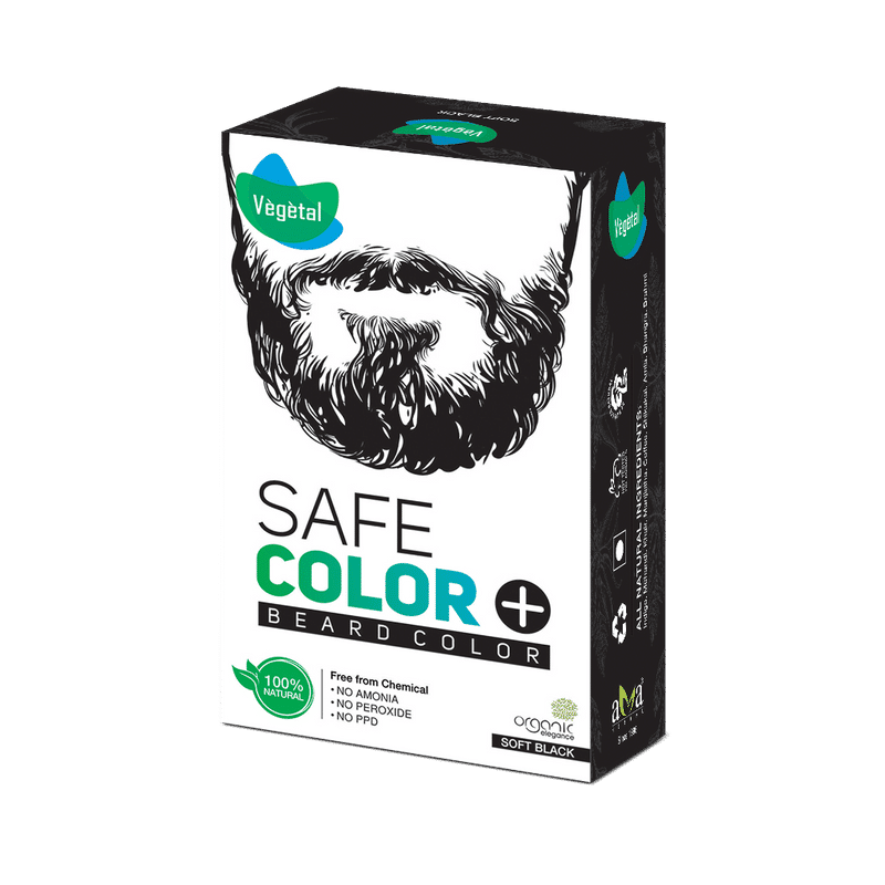Vegetal Safe Color For Beard - Soft Black