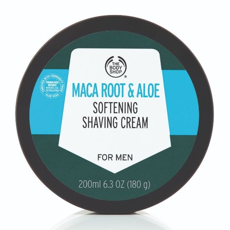 The Body Shop Maca Root & Aloe Softening Shaving Cream For Men