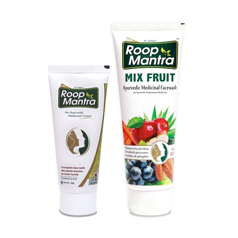 Roop Mantra Combo (Face Cream + Mix Fruit Face Wash)
