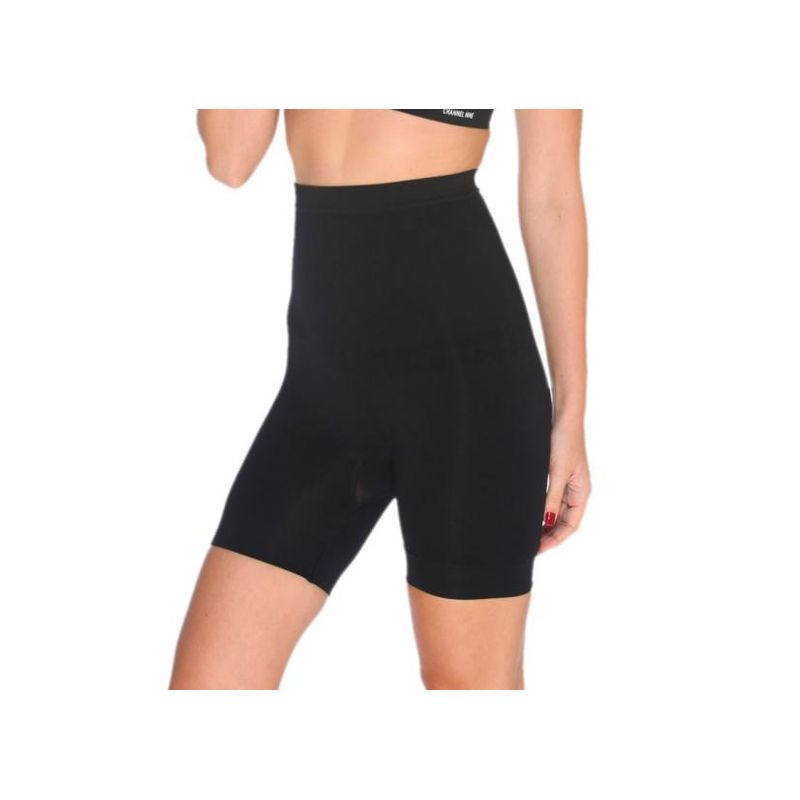 4057e7df25e75 C9 Seamless Low Control Thigh Black Women Shapewear - Black (XL) at ...