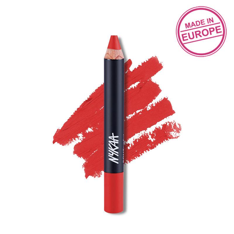 Nykaa Pout Perfect Lip & Cheek Velvet Matte Crayon Lipstick - Call Me Red,Darling! 06