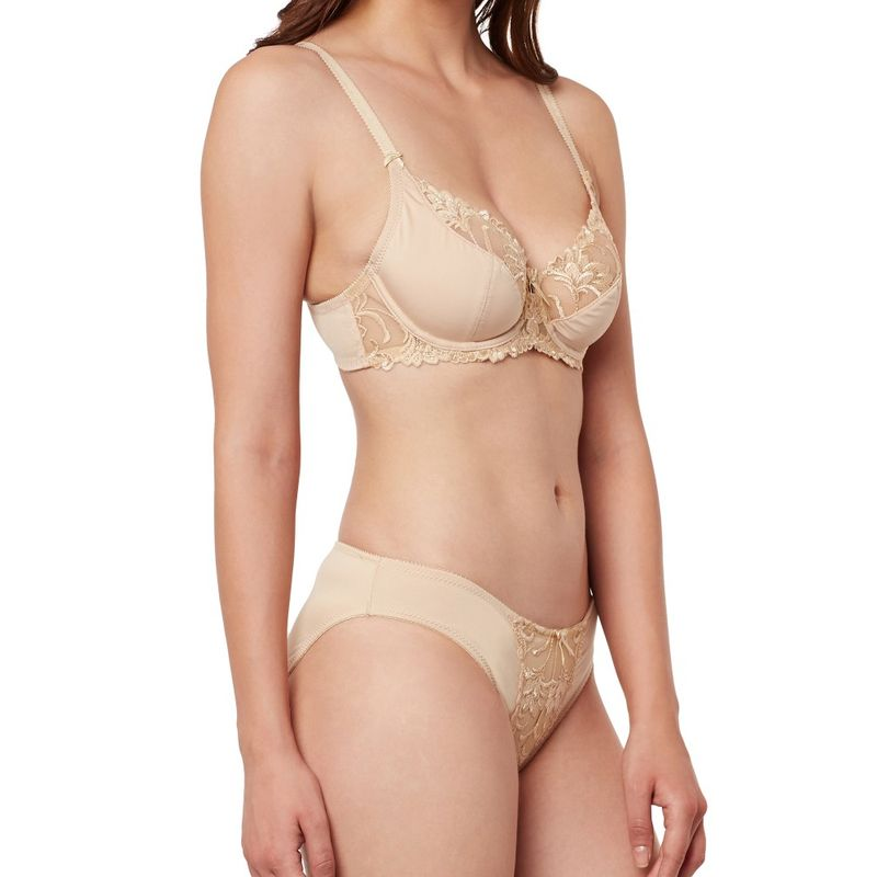 2f01585b09 Secrett Curves Carmen Embroidery Full Coverage Underwired Soft Cup Bra  Panty Set - Brown at Nykaa.com