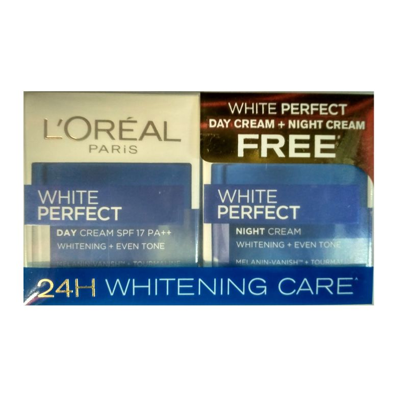 L'Oreal Paris White Perfect Day + Night Cream Combo Pack