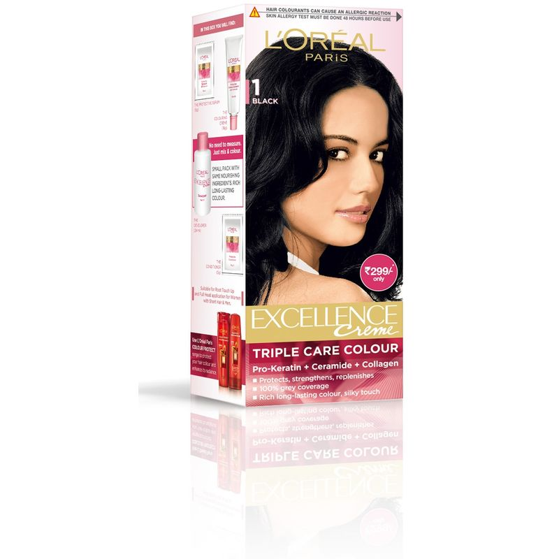 L'Oreal Paris Excellence Creme Hair Color - 1 Black
