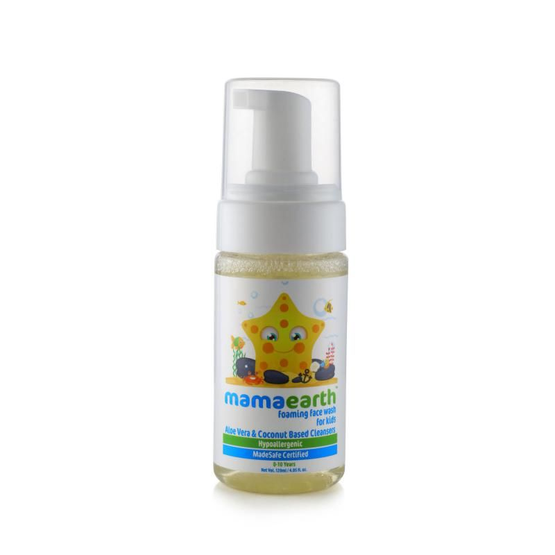 Mamaearth Foaming Face Wash For Kids With Aloe Vera And Coconut Based Cleansers