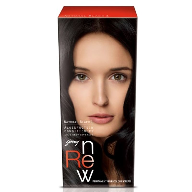 Godrej Renew Crème Hair Colour - Natural Black (50 Ml)