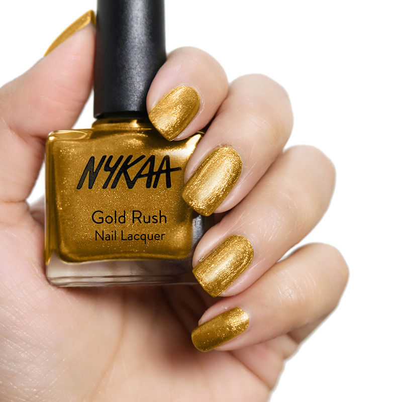 Nykaa Cosmetics Nail Polish Gold Rush Lacquer Online In India