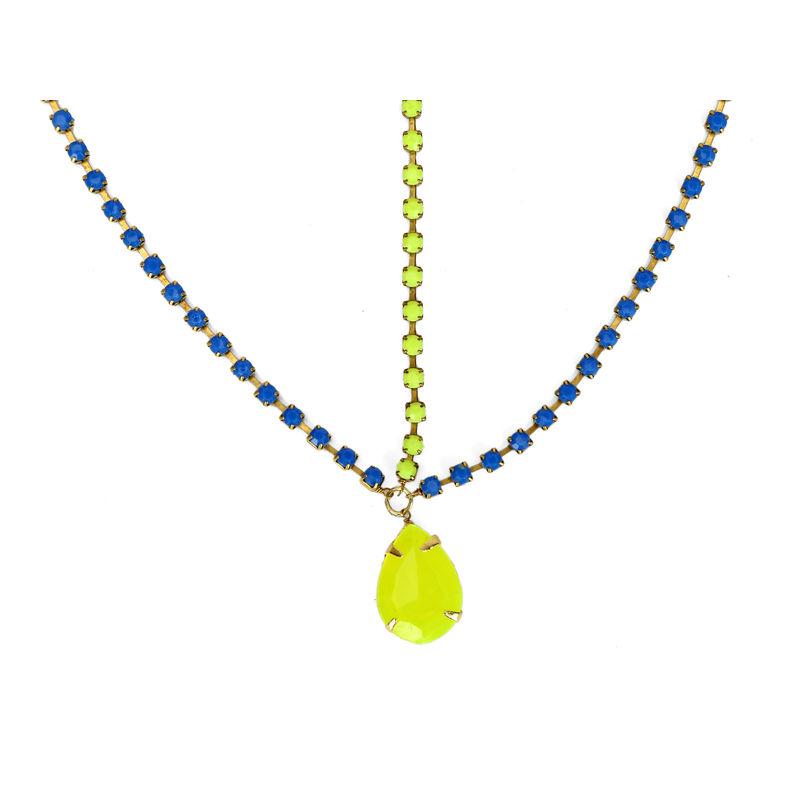 Hair Drama Company Princess Head Chain - Yellow & Blue
