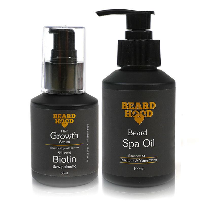Beardhood Beard & Hair Growth Serum & Beard Spa Oil