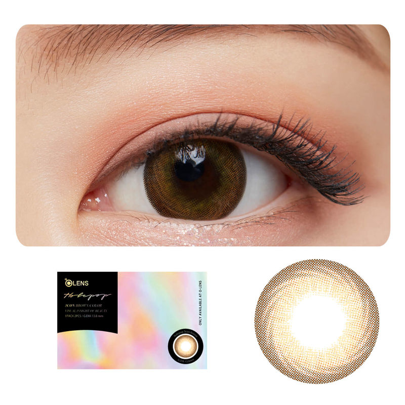 1efbe82c36c O-Lens HolePop Contact Lenses - Brown at Nykaa.com