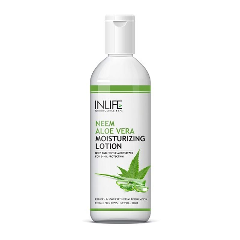 INLIFE Natural Aloe Vera Neem Moisturizing Face Lotion Paraben Free