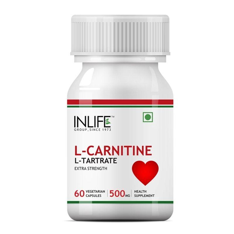 INLIFE L-Carnitine L-Tartrate 500mg (60 Veg. Capsules)