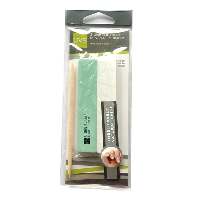 QVS 2 Unbelievable Mini Nail Shiners With Cuticle Stick