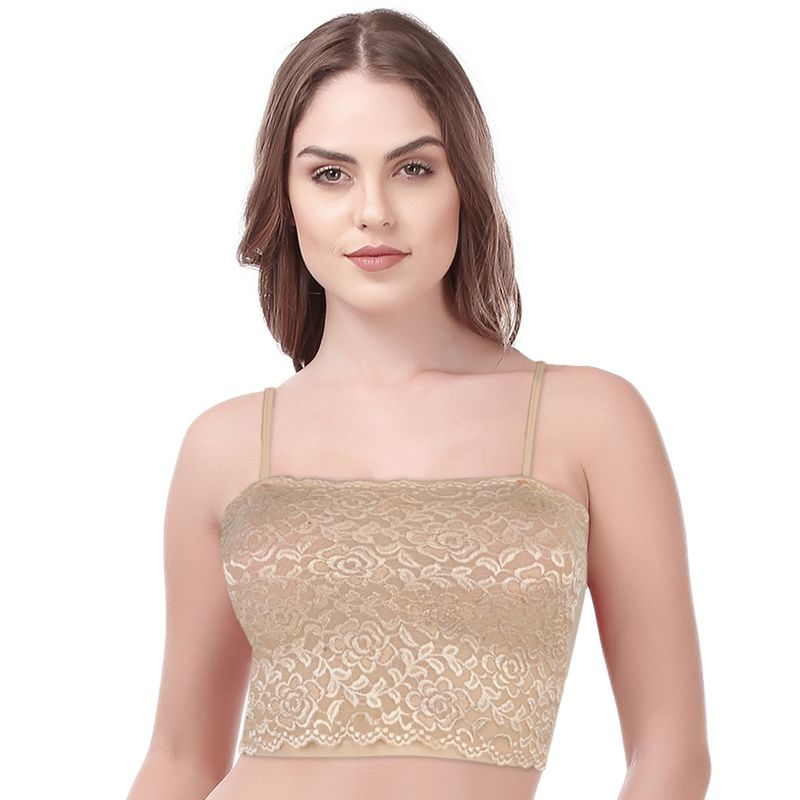 eb5fffc616a9f Kate Single Non Padded Short Tube Top Bra -Nude (Freesize) at Nykaa.com