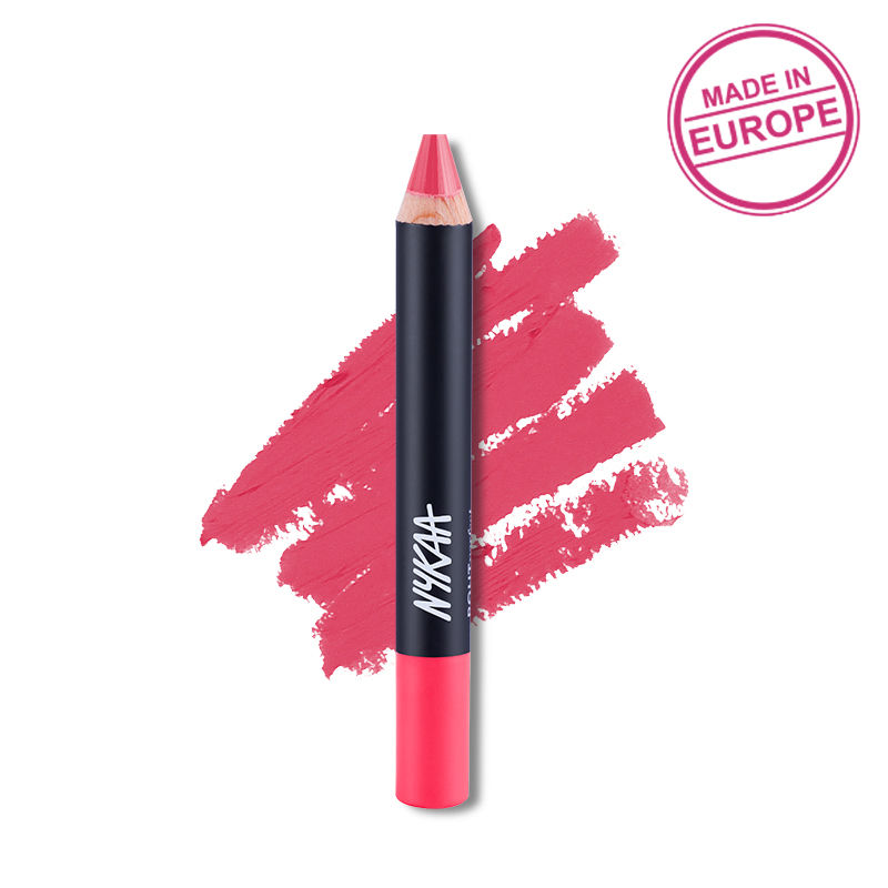 Nykaa Pout Perfect Lip & Cheek Velvet Matte Crayon Lipstick - Ken To My Barbie 18