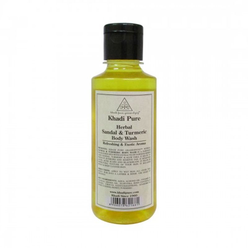 Khadi Pure Herbal Sandal & Turmeric Body Wash