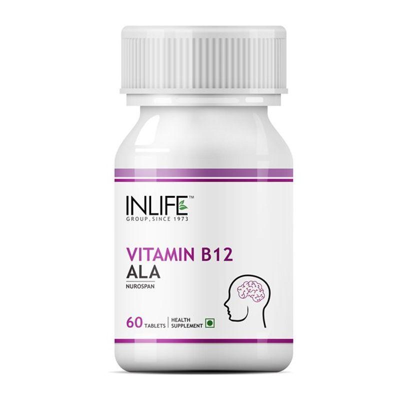 INLIFE Vitamin B12 Alpha Lipoic Acid (ALA), 60 Tablets For Cognitive Memory Health