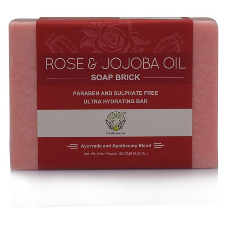 Greenberry Organics Rose & Jojoba Oil Soap Brick