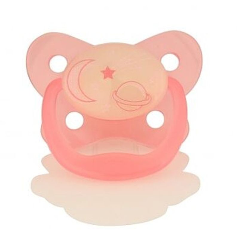 Dr. Brown's Prevent Glow In The Dark Butterfly Shield Pacifier Stage 2 - Pink (6-12M)