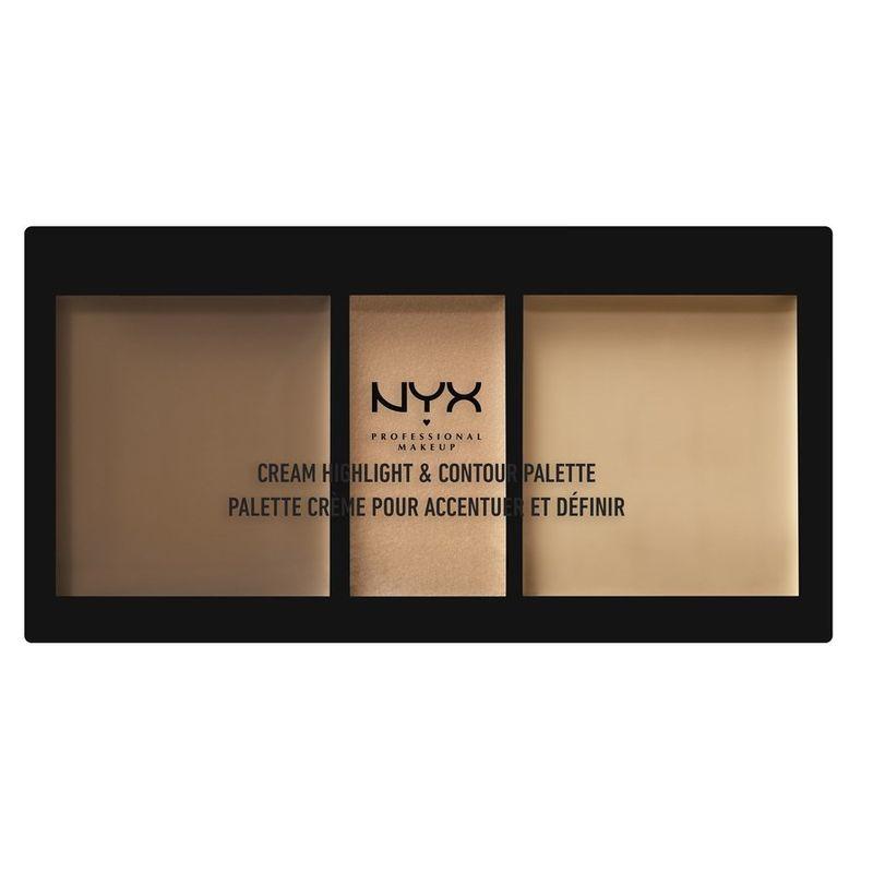 NYX Professional Makeup Cream Highlight & Contour Palette - Medium