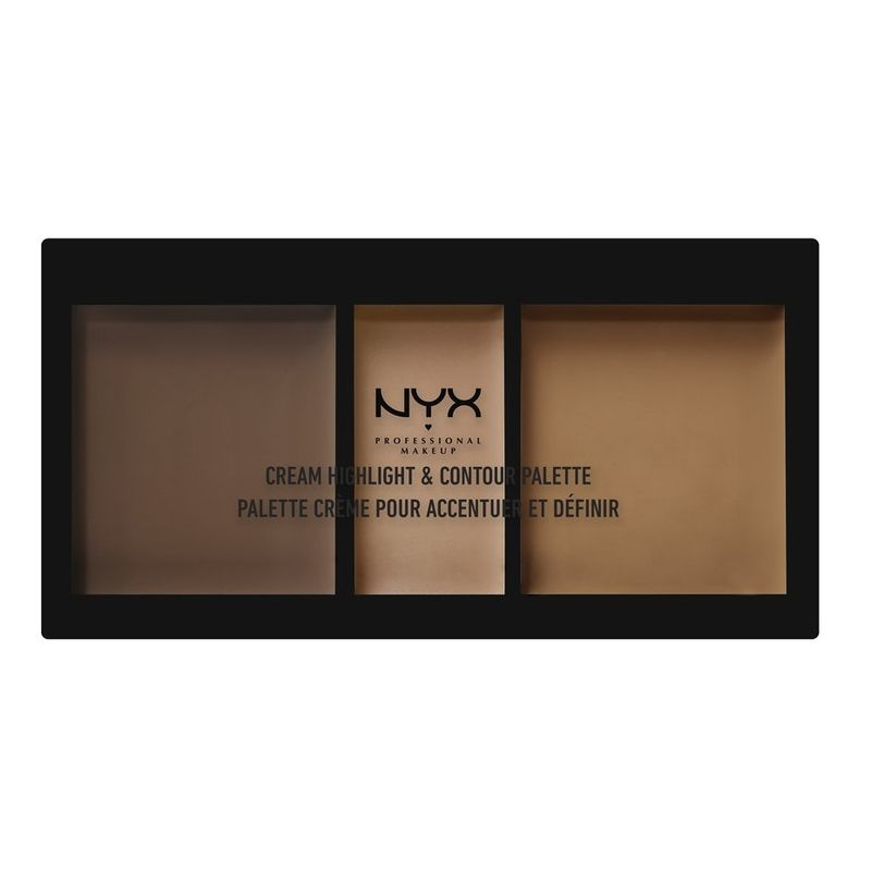 NYX Professional Makeup Cream Highlight & Contour Palette - Deep
