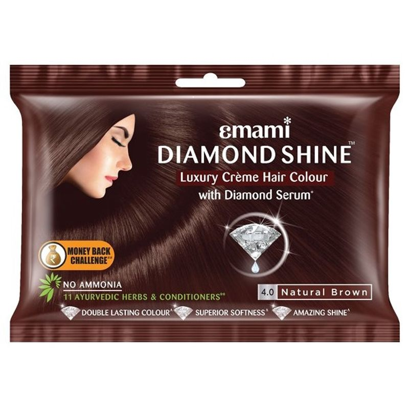 Emami Diamond Shine Creme Hair Colour - Dark Brown 20ml