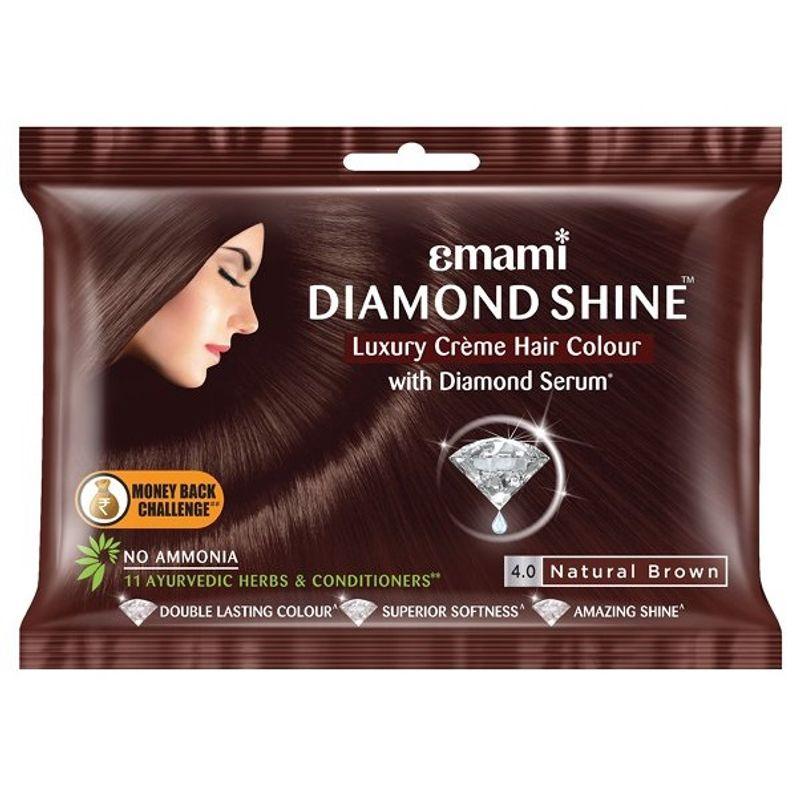 Emami Diamond Shine Creme Hair Colour - Dark Brown 20ml