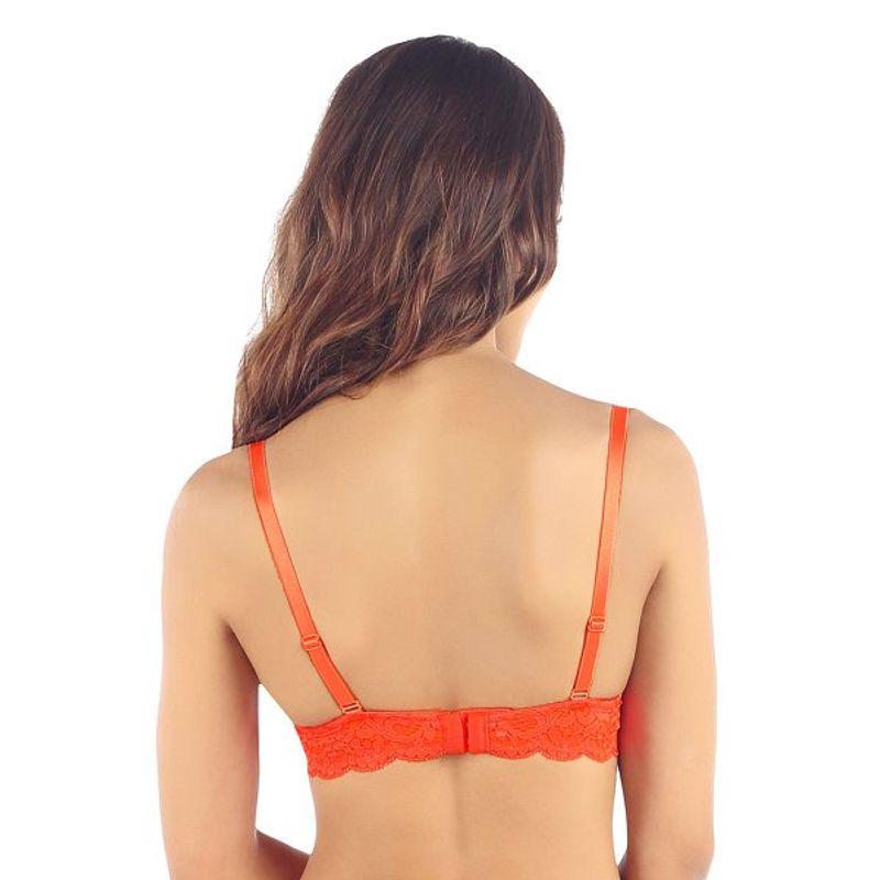 cbaa3a5f0 Candyskin Nylon Spandex Unlined Demi Bra (Orange) - 32C Nykaa.com