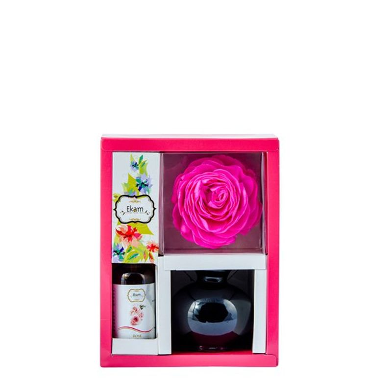 Ekam Rose Reed Diffuser Set