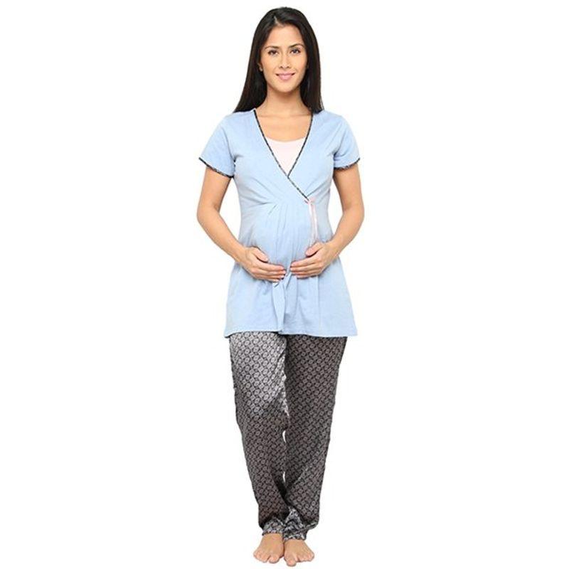 Valentine Women Nightsuit For Pregnant / Feeding Women / Nursing Women - Multi-Color 3