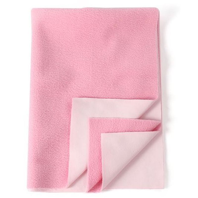 Mee Mee'S Baby Total Dry & Breathable Mattress Protector Mat - Pink (L)