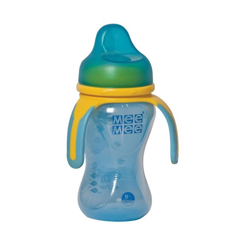 Mee Mee Baby Multi Grasp Soft Spout Cup - Blue