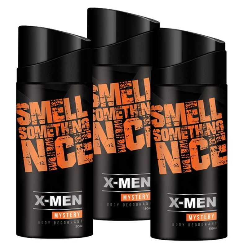 X-Men Mystery Body Deodorant Spray (Pack Of 3)