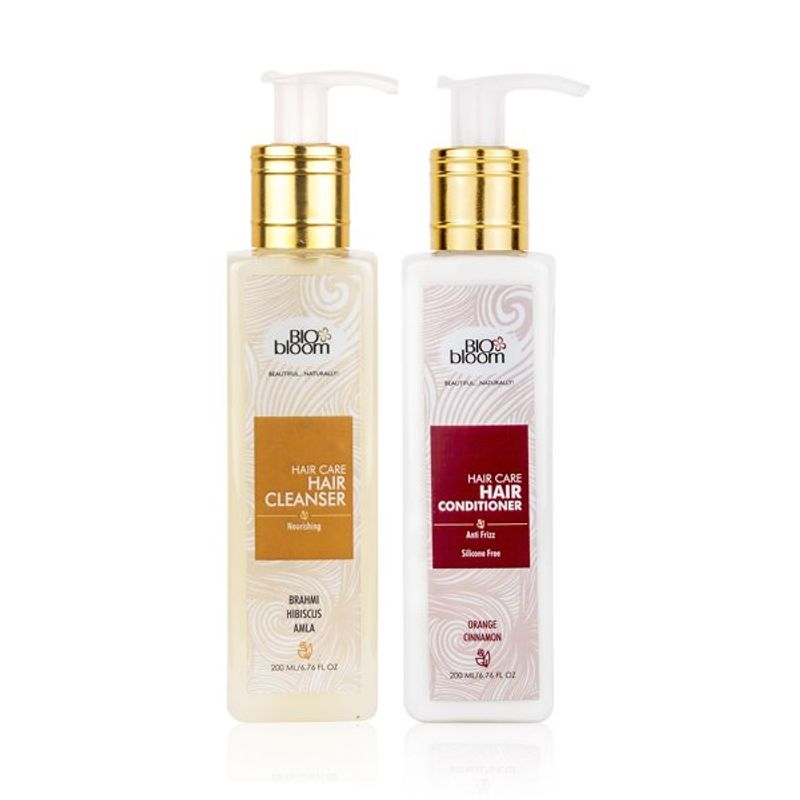 Biobloom Set Of Sulfate Free Hair Cleanser (Hair Nourishing) & Sillicone Free Hair Conditioner