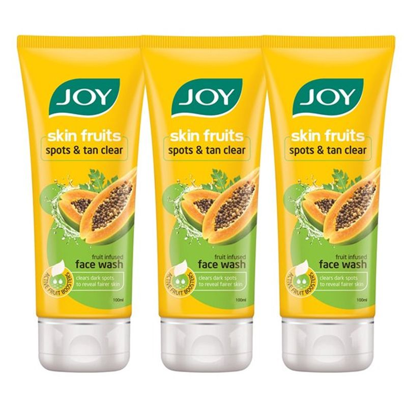 Joy Skin Fruits Spots & Tan Clear Papaya Face Wash (Pack Of 3)