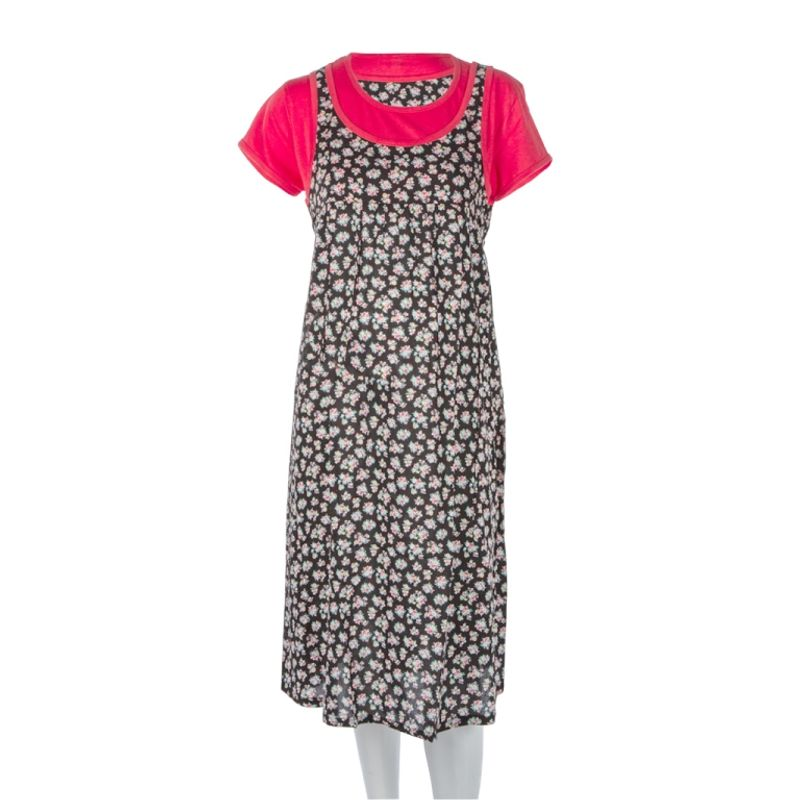 Mee Mee Maternity Dress With Feeding Zipper - Coral 1