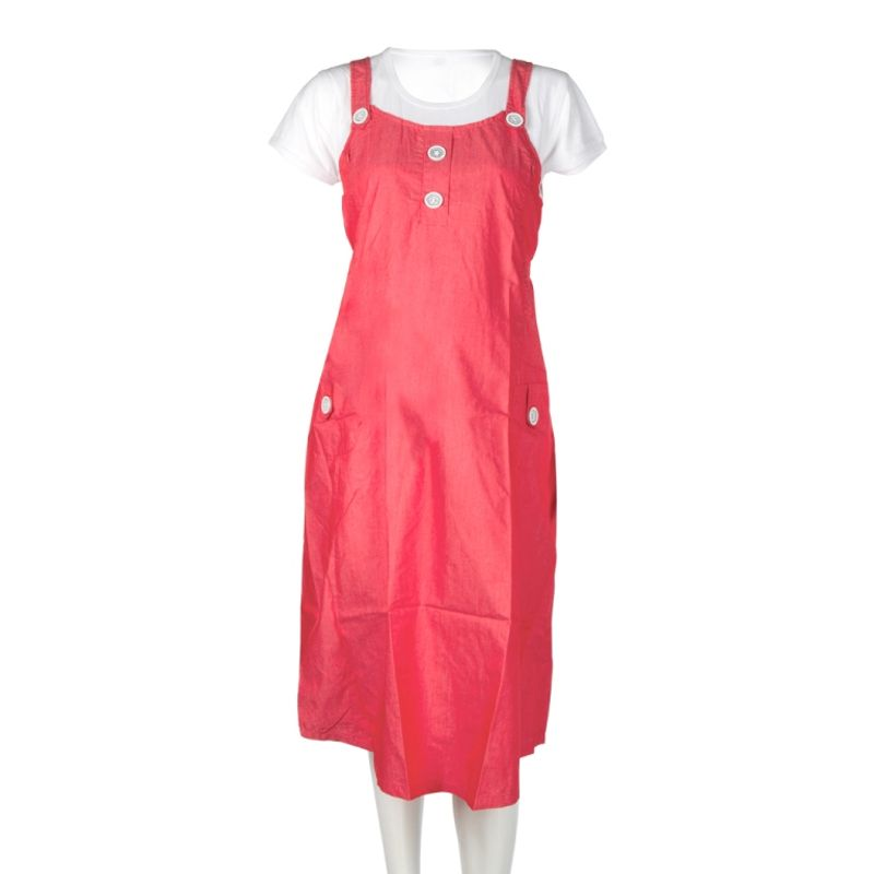 Mee Mee Maternity Dress With Feeding Zipper - Coral