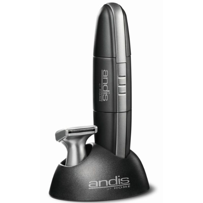 Andis Easy Trim Battery Operated Personal MNT-3 Trimmer For Men (Black And Silver)