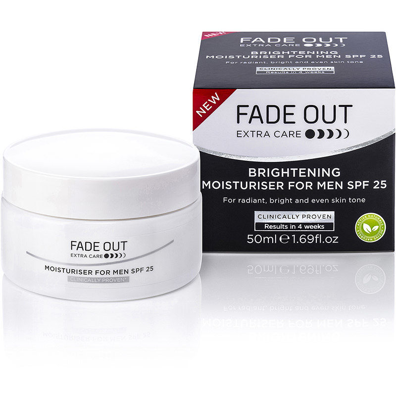 Fade Out Brightening Moisturiser For Men SPF 25 + 50% Extra Free