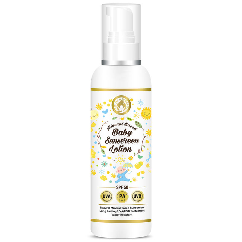 Mom & World Mineral Based Baby Sunscreen Lotion