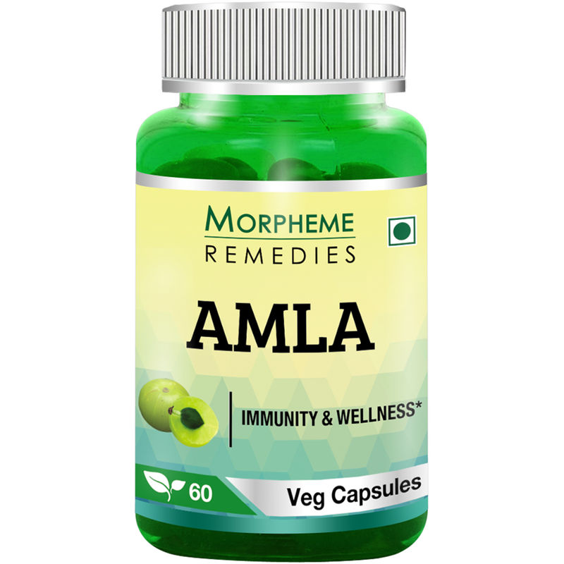 Morpheme Remedies Amla Capsules Vitamin C & Anti Oxidant - 500mg Extract